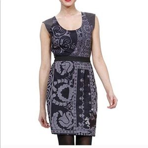 DESIGUAL Gray Printed Dress M